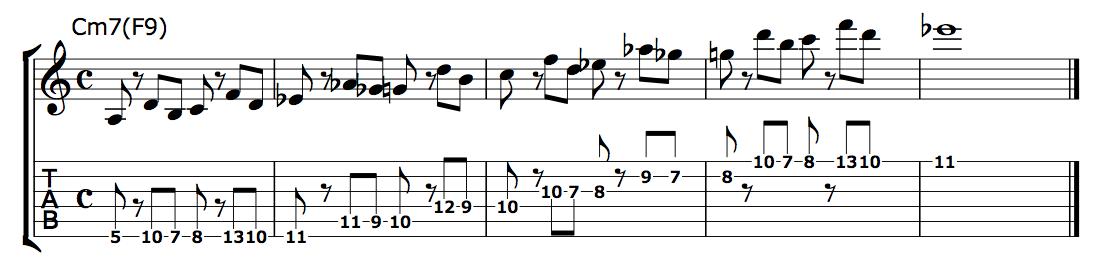 ディレイドリゾルブCm7-1