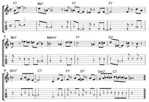 ターゲットノートを考えてソロを弾いてみよう!